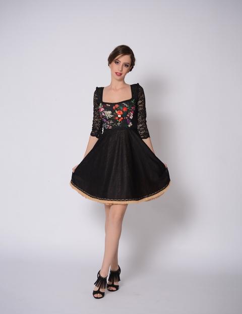 Rochie Mini Apron Neagra