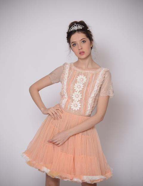 Rochie Peach Piersica