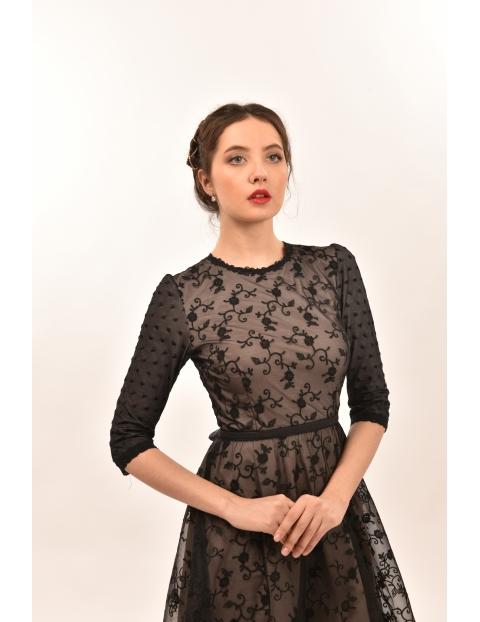 Rochie Simply Lace Neagra-Lila