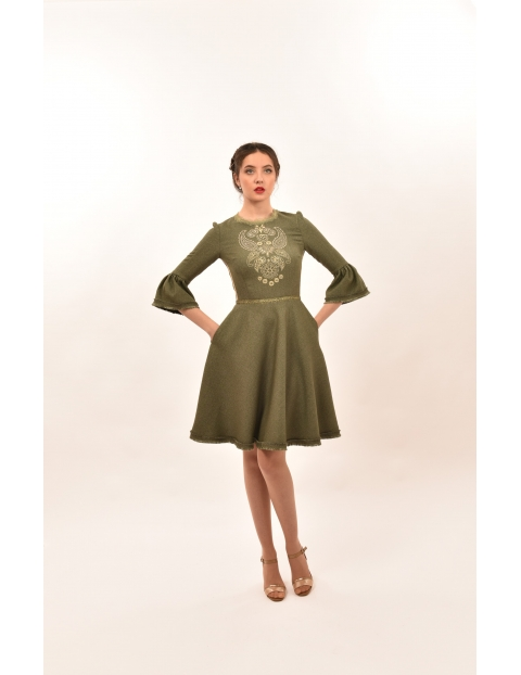 Rochie Olive Broderie Aurie